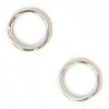 Jump Ring Round 8mm OD 19gauge Silver Soldered